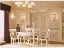 Masa rotunda cu 4 scaune tapitate noi - productie Italia