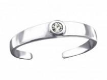 Inel De Picior Argint, Rotund, Reglabil, White, A4S26204