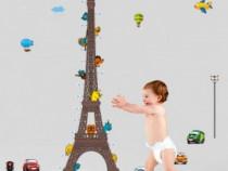 Sticker Decorativ, Masuratoare Turnul Eiffel 210 Cm, 120STK