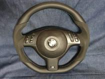 Volan ergonomic bmw e46 cu alcantara