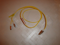 Cablu telefon USB la micro USB si iphone tip fermuar materia