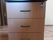 Rollbox 3 sertare, Yală 2 Chei; Cub Birou; Comodă; Noptiera