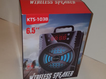 Boxa portabila KTS-1038 cu ceas - radio - incarcare usb