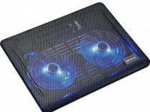 Suport Stand Laptop Cooler Metalic 2 Ventilatoare Serioux