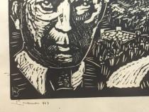 Tablou. Xilogravura Nicolae Brana, 1943