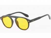 Ochelari de soare Vintage - Negru Galben