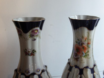 Vaze portelan Porfin, pictura manuala, 32 cm H