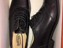 Pantofi dama din piele naturala cu siret (firma Allegro)
