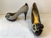 Pantofi deosebiti Guess, originali, din piele naturala lacui