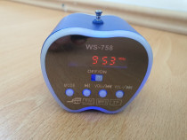 Boxa portabila cu radio si mp3 player tip Apple, Wster WS-75