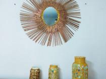 Decoratiune perete cu oglinda!
