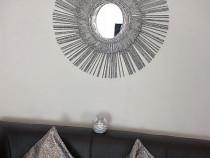 Decoratiune perete moderna argintie!
