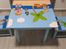 Set masa cu 2 scaune copii