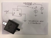 Releu semnalizare LED 2, 3 si 6 pini 12V