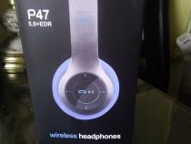 1 pereche de casti audio Wireless stereo cu microfon de culo