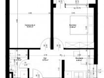 Apartament cu 2 camere, Splaiul Crisanei , pe malul Crisului