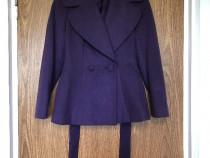 Palton scurt, Etic Lady's Fashion, mov, se inchide cu nastur