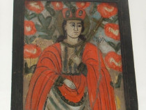 Icoana pe sticla Sfanta Paraschiva
