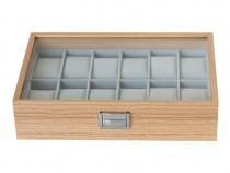 Cutie lemn premium, 12 ceasuri, caseta eleganta, cadou ideal