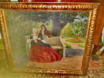 B882-Nagy Vilmos-pictor maghiar-scena galanta epoca-ulei