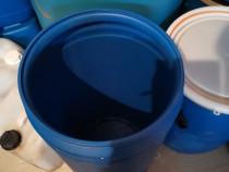 Butoaie plastic alimentare 60,80 și 100 L groase cu capac