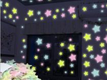 Nou Set de 40 Stelute fosflorescente lumineaza noaptea