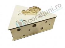 Cutie decorativa, cutie lemn ,cutie soarece, cutie cascaval