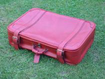 Valiza retro, geamantan vintage, rosu, 75x50 cm