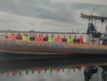 Barcă tip rib, 9,4 m / 3,05, cu 2 x 150 cp yamaha (4 t
