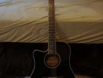 Chitara electro-acustica Harley Benton D-200CE-12BK LH