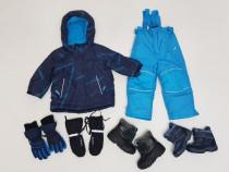 Costum schi, salopeta iarnă TCM, Nr. 86 - 92, ghete, mănuși