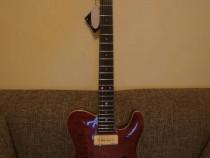 Chitara electrica Harley Benton TE-90QM Trans Red