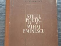 L galdi stilul poetic al lui mihai eminescu