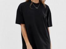 Rochie Tricou lung negru Zara H&M Pull&Bear Stradivarius