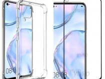 Huawei P40 Lite / 5G Husa Silicon Anti Soc si Folie Sticla