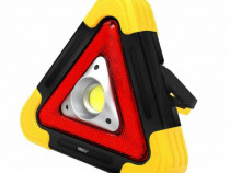 Triunghi Luminos MRG HB6609, Reincarcabil, Panou solar C424