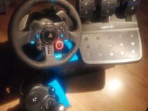 Volan jocuri +schimbator de viteze +pedale=simulator auto