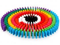 Joc Domino din lemn cu 360 de piese colorate