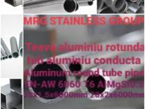 Teava aluminiu rotunda 20mm tub aluminiu alama cupru inox