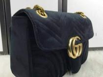 Set Gucci (geanta si curea)model Marmont,logo metalic