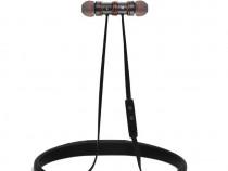 Casti sport bluetooth Reacher, microfon, banda gat, negru