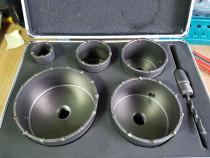 Set carote beton Professional in valiza aluminiu