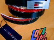 Curele unisex Tommy Hilfiger new model logo metalic
