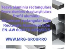 Teava aluminiu patrata 40x40mm rectangulara Alama Inox Cupru