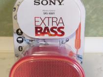 Boxa portabila bluetooth SONY SRS-XB01 extra bass rosu(noua)