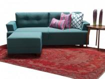 Canapea 3 locuri + taburet