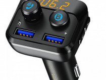 Modulator FM Bluetooth cu Buton de Apel 2XUSB Remax RCC105