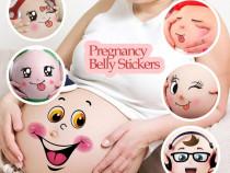 Abtibild/ sticker burta femei insarcinate/ body bebe