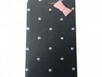 Husa Telefon Flip Book Apple iPhone 4 Black Pearls