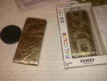 Husa telefon apple iphone 5 5s oxo auriu deschidere in jos f
